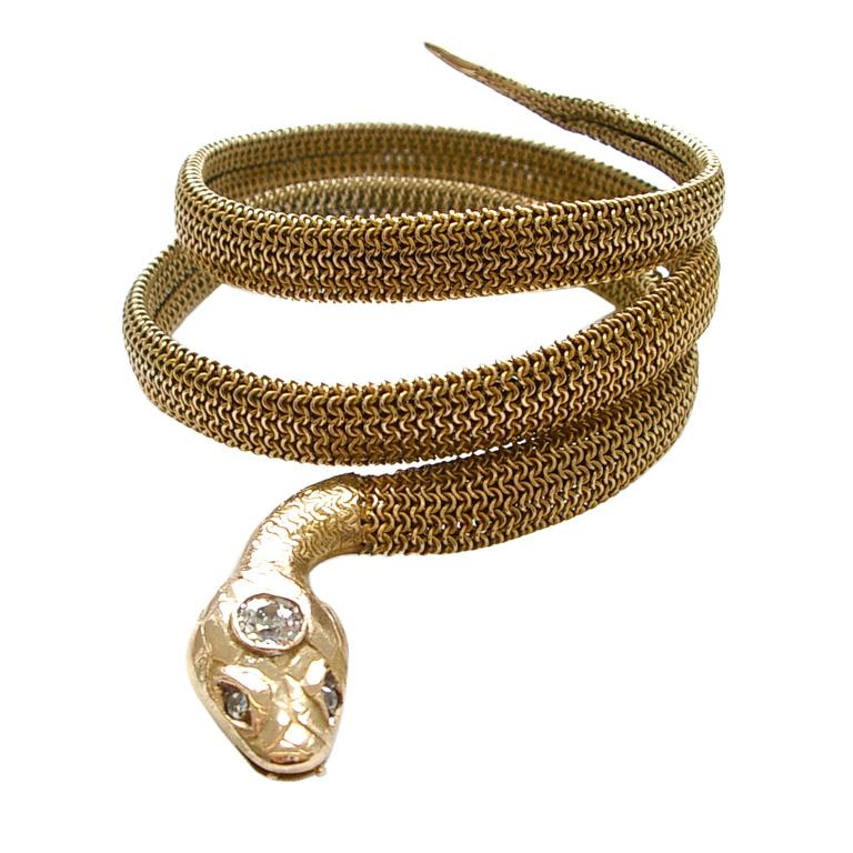 Bracelet Mesh Snake Bracelet Crystal Pictures To Pin On Pinterest