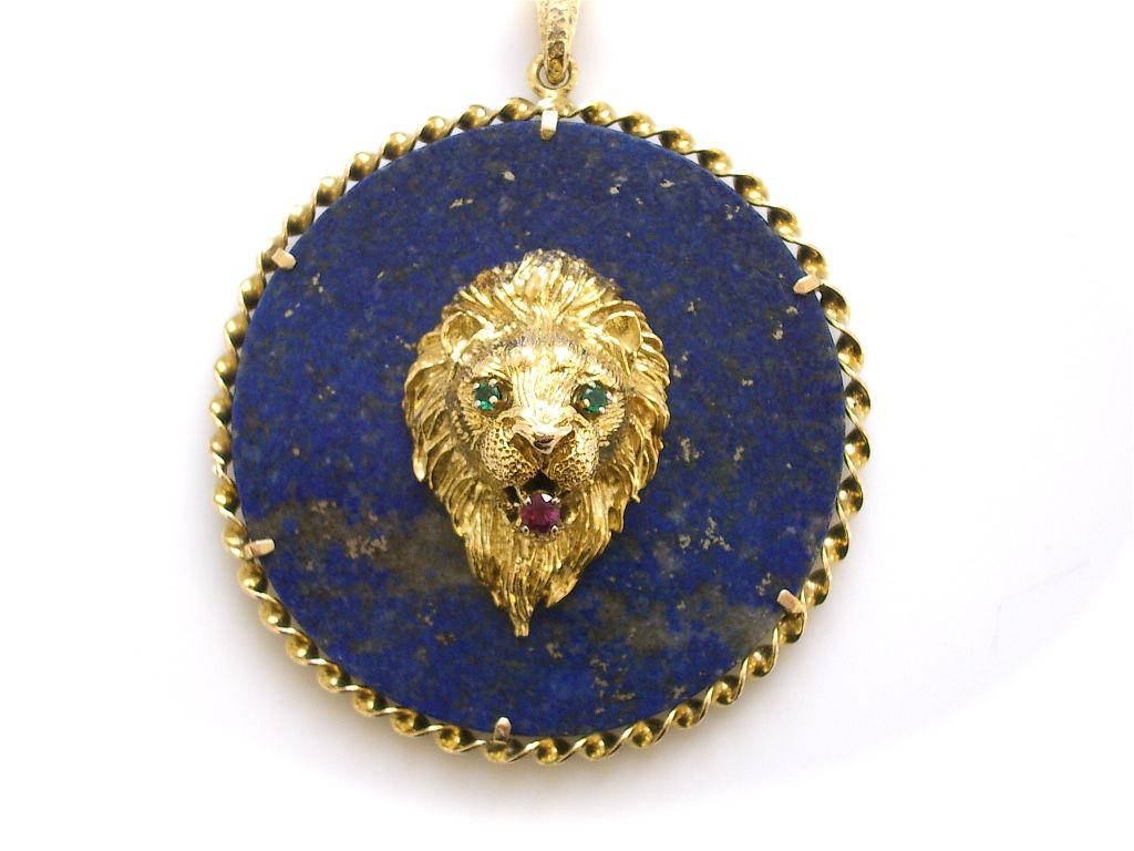 gold and lapis lazuli necklace c1970 kimberly klosterman