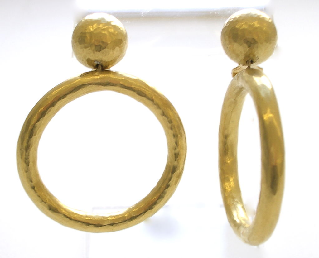 Gold Hoop Earrings By Paloma Pico For Tiffany Italy 1989 2