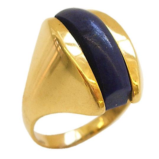 Lapis Lazuli And K Gold Rings