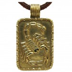 FRED of PARIS, A Gold Scorpion Pendant, c 1970-1