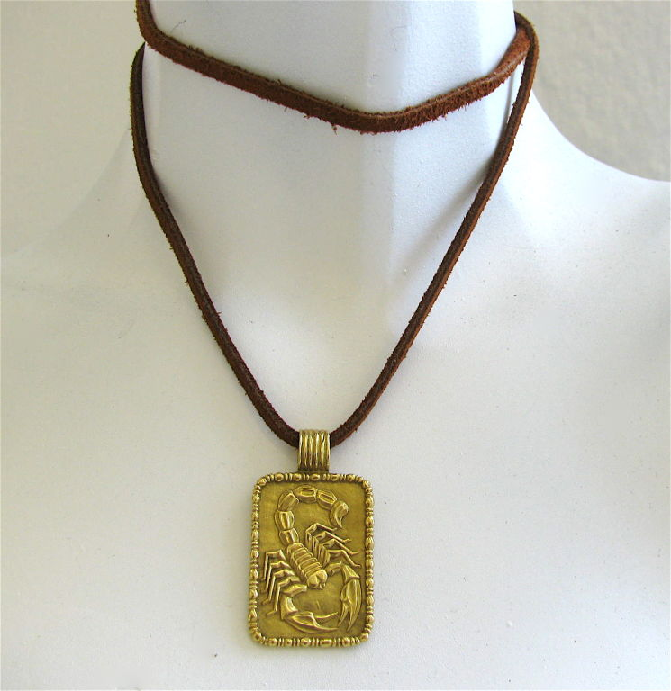 Fred of paris a gold scorpion pendant c 1970 kimberly klosterman a gold scorpion pendant c 1970 4 mozeypictures Images