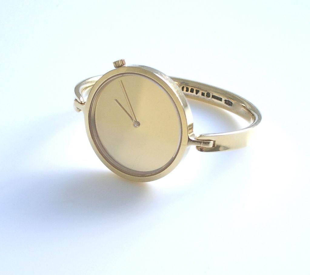 Gold Watch By Torun For Georg Jensen 1